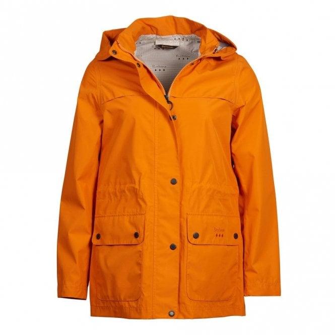 Barbour Women's Drizzel Waterproof Breathable Jacket - Marigold Orange