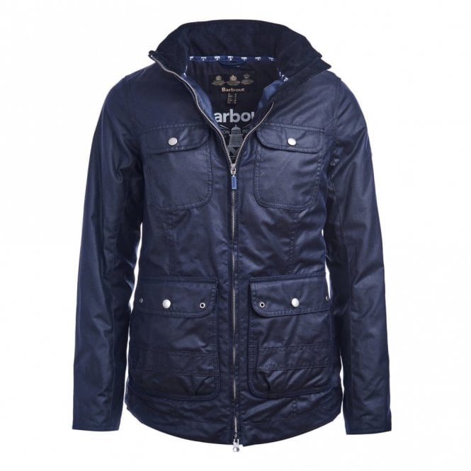 Barbour Women's Filey Wax Jacket - Navy