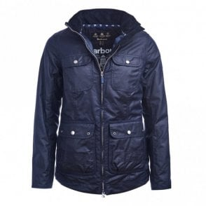Women's Filey Wax Jacket - Navy