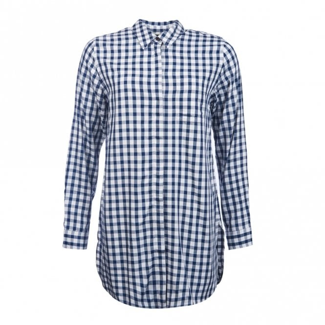 Barbour Women's Freestone Tunic  - White Blue Check