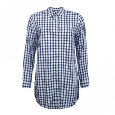 Women's Freestone Tunic  - White Blue Check