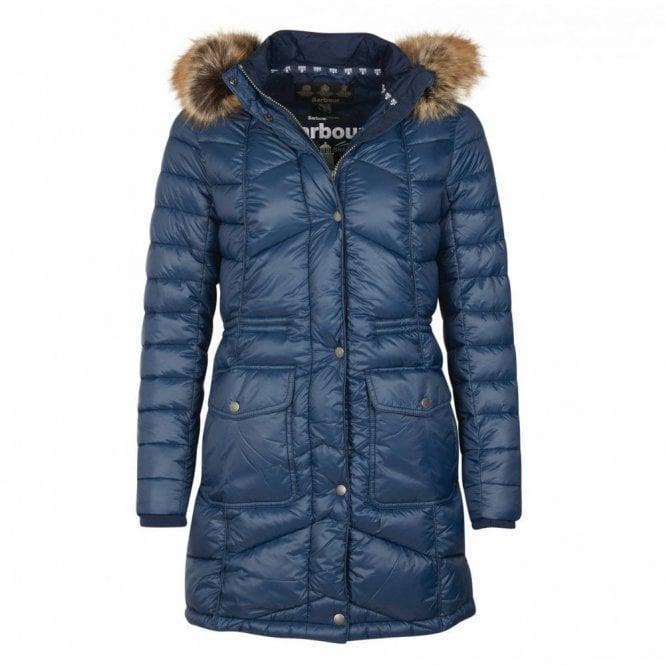 Barbour Women's Hamble Quilt Jacket Navy - Navy