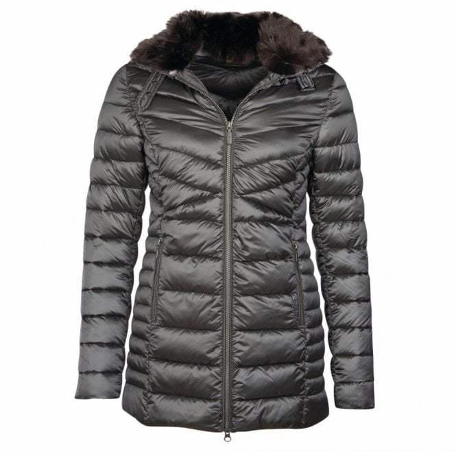 Barbour Women's Lomond Quilt Jacket Ash Grey - Grey