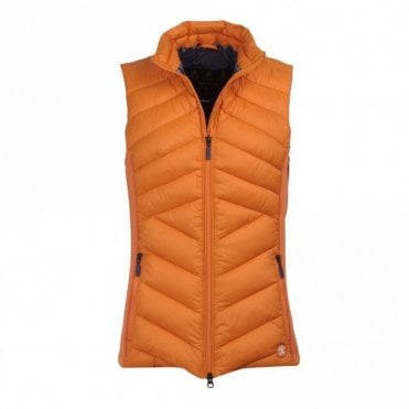Women's Pebble Gilet Marigold/Navy