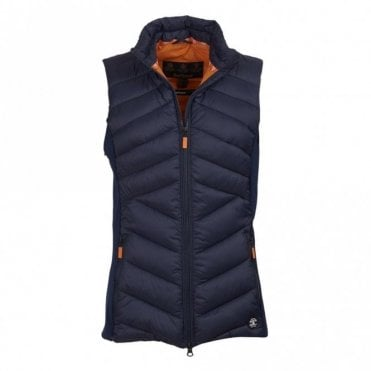 Women's Pebble Gilet - Navy/marigold
