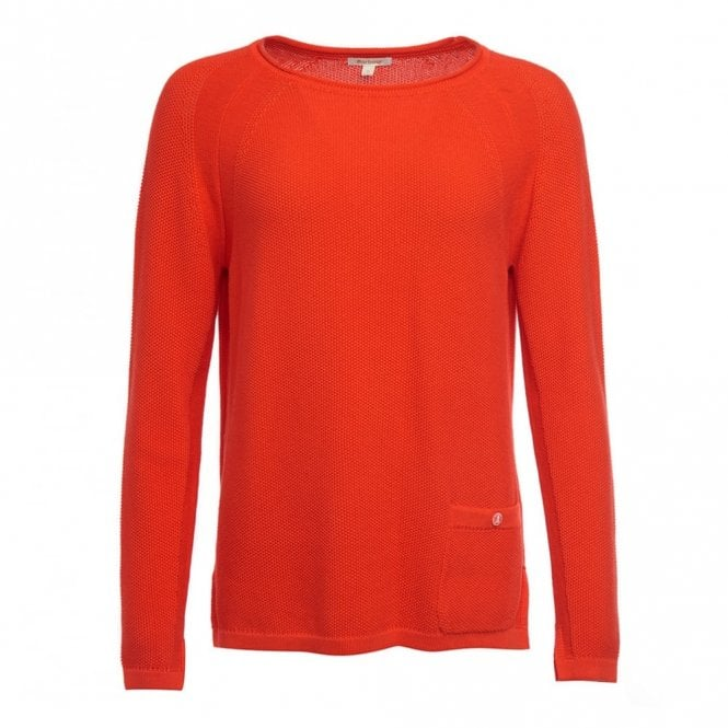 Barbour Women's Pembrey Knit Signal Orange - Orange