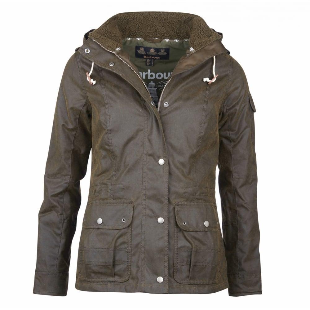 Barbour Women S Redcliffe Wax Jacket Green Lwx0757ol51