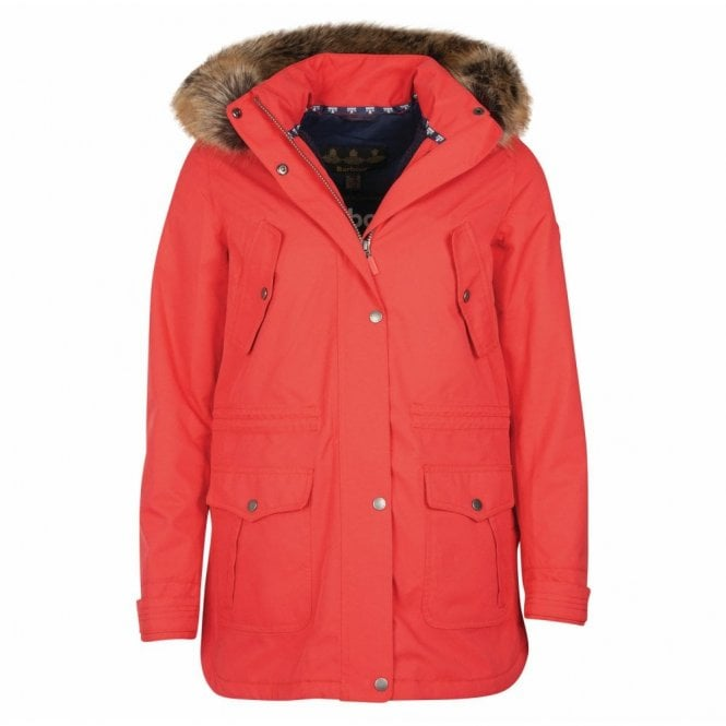 Barbour Women's Stronsay Jacket Reef Red - Red