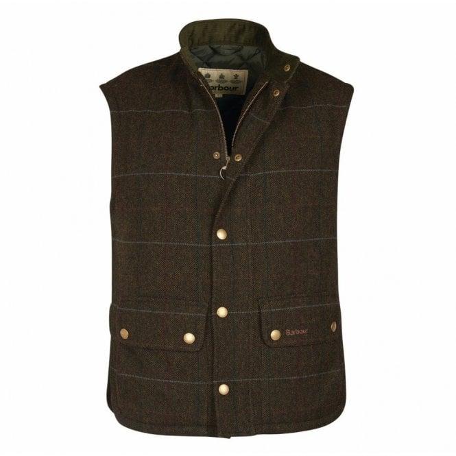 Barbour Wool Lowerdale Gilet Olive - Green