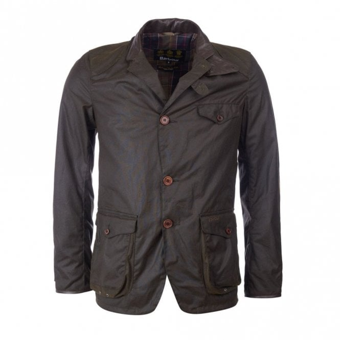 Barbour Beacon Sports Wax Jacket - Olive Green