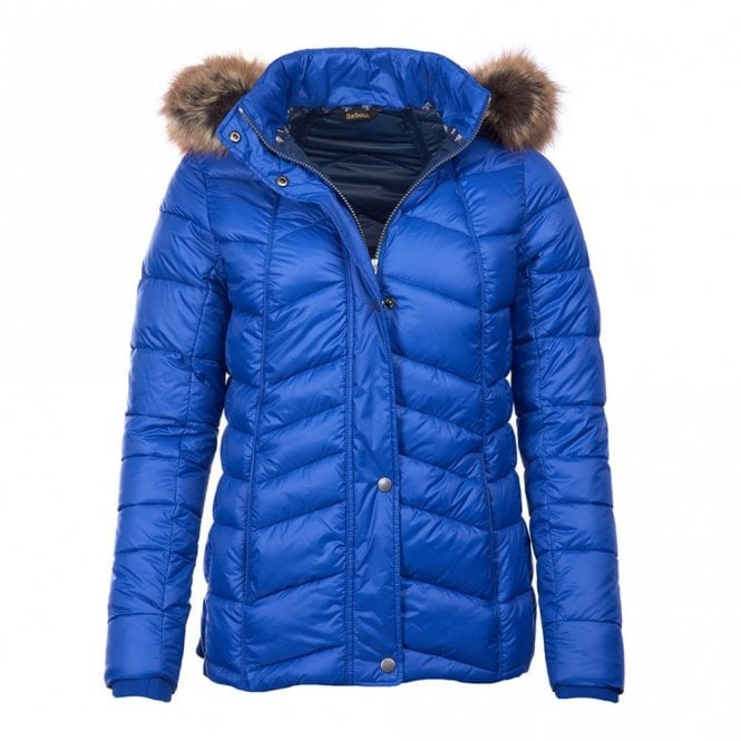 Barbour Bernera Quilt Jacket Sea Blue - Blue