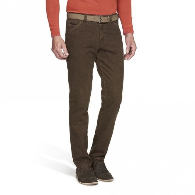Meyer Chicago double-dyed winter chinos 2-5555/44 - Brown