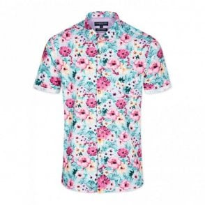 Slim Fit Flower Power Shirt - Green