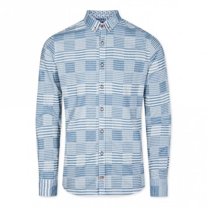 COLOURS & SONS Slim Fit Sailors Patchwork Shirt - Blue