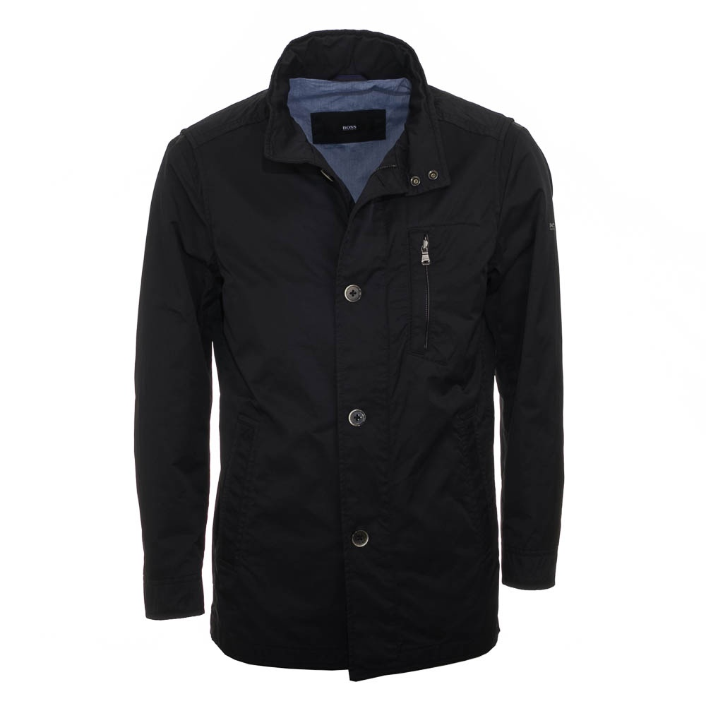 hugo boss conat coat navy size 42 regular. Black Bedroom Furniture Sets. Home Design Ideas