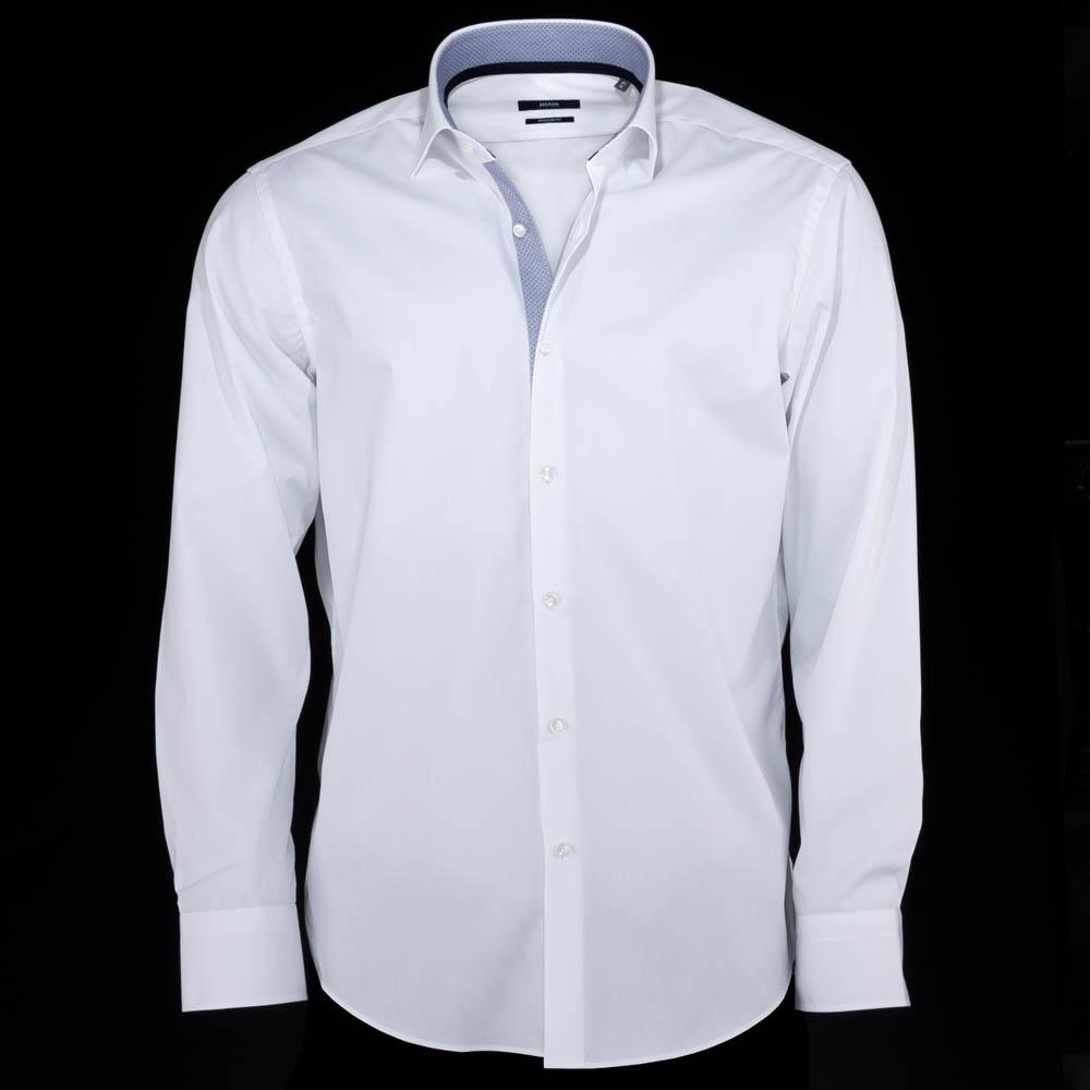 bb75330f5 ... White Hugo Boss Mens Dress Shirts; Eraldin ...