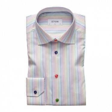 Contemporary Fit Multicolour Stripe Shirt