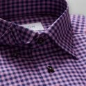 ETON Contemporary Fit Signature Twill Blue/pink Check Shirt