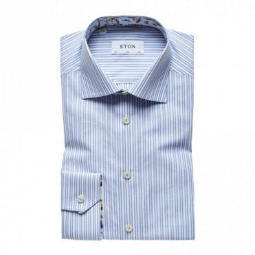 Slim Fit Blue/white Stripe Transformation Shirt