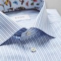 ETON Slim Fit Blue/white Stripe Transformation Shirt