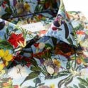 ETON Slim Fit Sky Blue Floral Print Shirt Blue