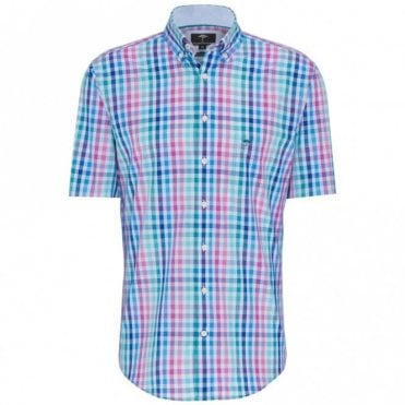 Blue Multicolour Check Shirt