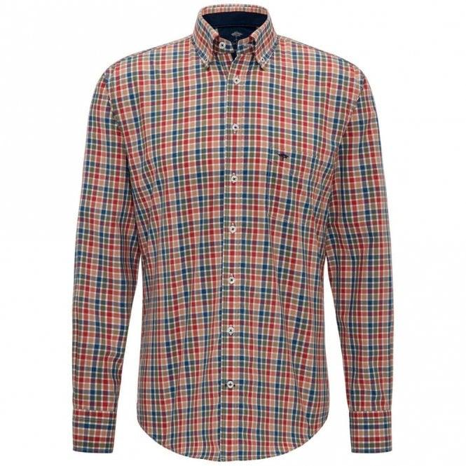 Fynch-Hatton Country Check Shirt - Khaki Check