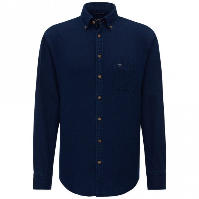 Fynch-Hatton Denim Dots Shirt - Navy