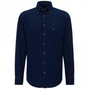 Denim Dots Shirt - Navy