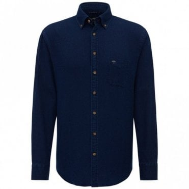 Denim Dots Shirt - Navy
