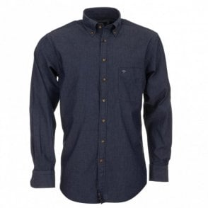 Denim Plain Shirt - Navy