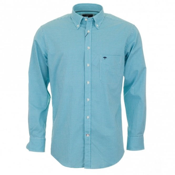 Fynch-Hatton Gingham Check Shirt - Mint Green