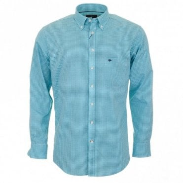 Gingham Check Shirt - Mint Green