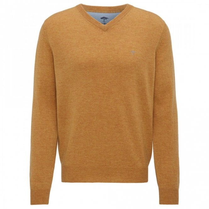 Fynch-Hatton Honeydew V-Neck Merino Mix Sweater - Yellow