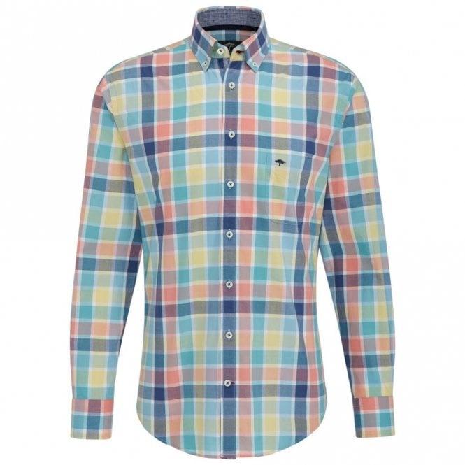 Fynch-Hatton Multicolour Check Shirt - Pink Check