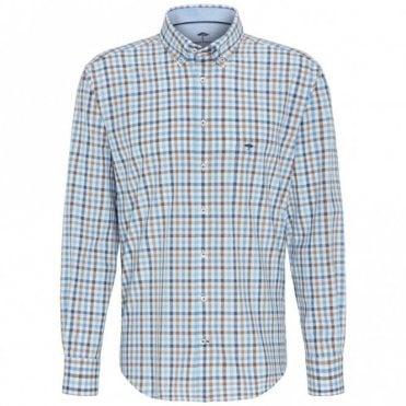 Multicolour Combination Check Shirt- Blue check