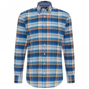 Oxford Madras Check Shirt - Blue
