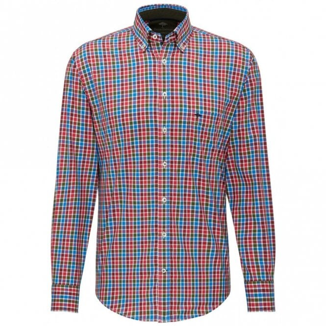 Fynch-Hatton Red/blue Check Shirt