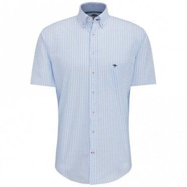 Seersucker Stripe Shirt - Blue