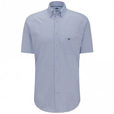 Fynch-Hatton Solid Summer Structure Shirt - Blue