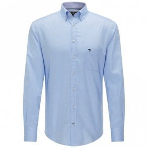 Solid Summer Structure Shirt - Blue