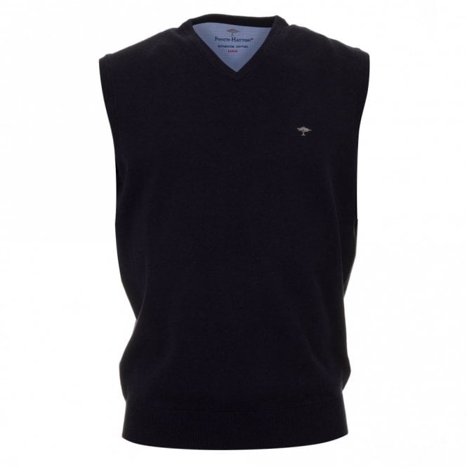 Fynch-Hatton Superfine Slipover - Navy