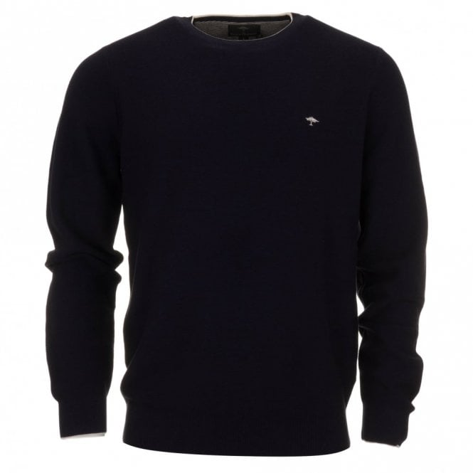 Fynch-Hatton Superior Cotton Sweater - Navy