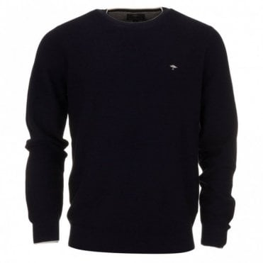 Superior Cotton Sweater - Navy