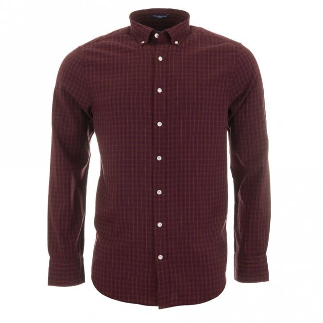 Gant 02 Windblown Oxford Check - Wine Check