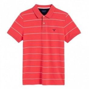 Gant 3 Colour Pique Polo Shirt - Watermelon Red