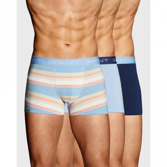 Gant 3 Pack Sunfaded Stripe Boxers Blue