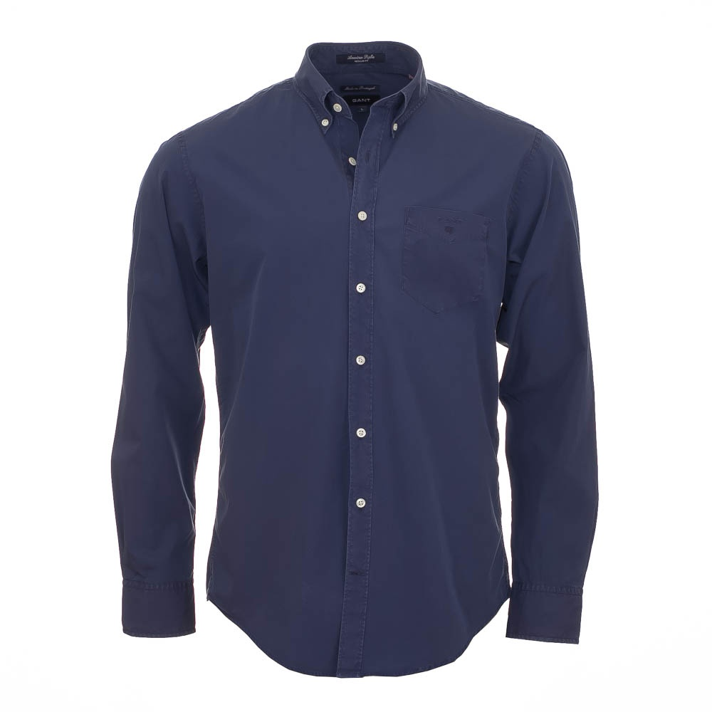 35cc7e190ef9 American Poplin Dark Blue Denim Shirt - Blue - Mens from Charles ...