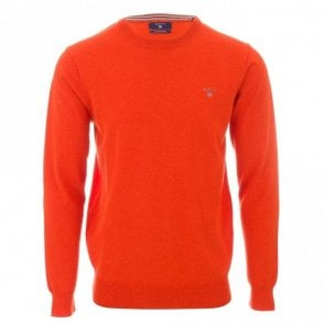 Cotton Wool Crew neck sweater - Orange