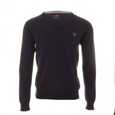 Cotton Wool V-neck sweater - Navy